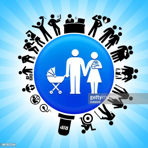 Family and Baby Lifecycle Stages of Life Background