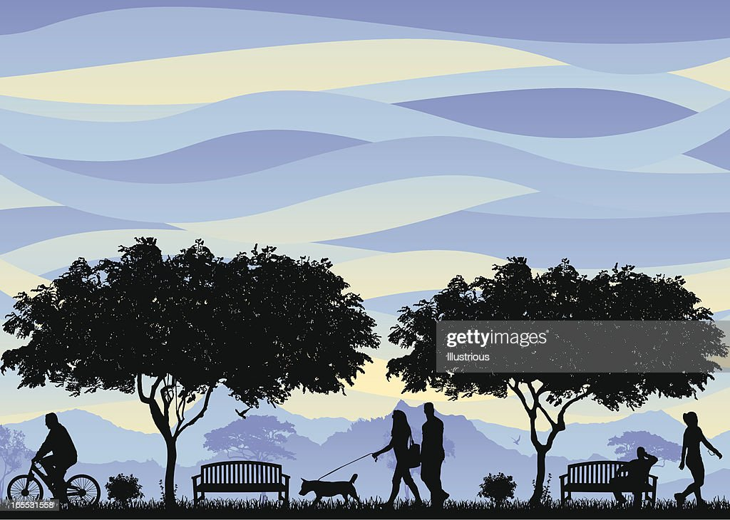 Family and Friends Scene : stock illustration