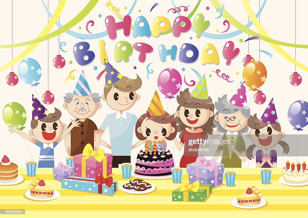Family Birthday Party Vector Art Getty Images