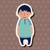 family boy character flat icon elements background,eps10