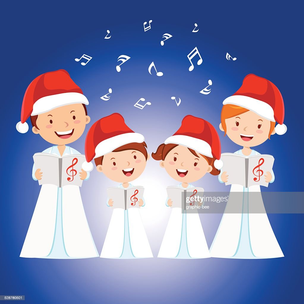 Family Christmas carols. Family choir.