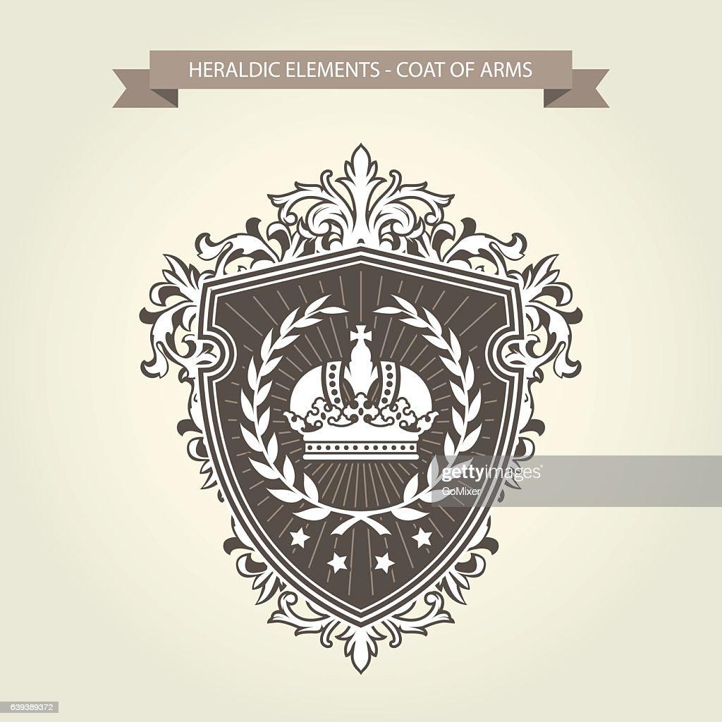 Family coat of arms - heraldic shield