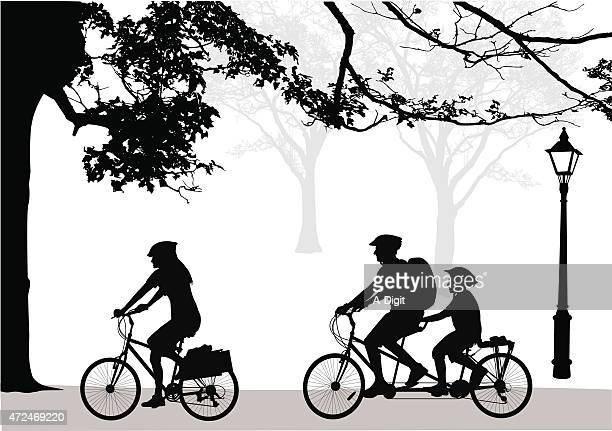 family cycling ritual - family cycling stock illustrations, clip art, cartoons, & icons