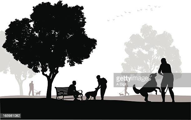 Family Dog Vector Silhouette