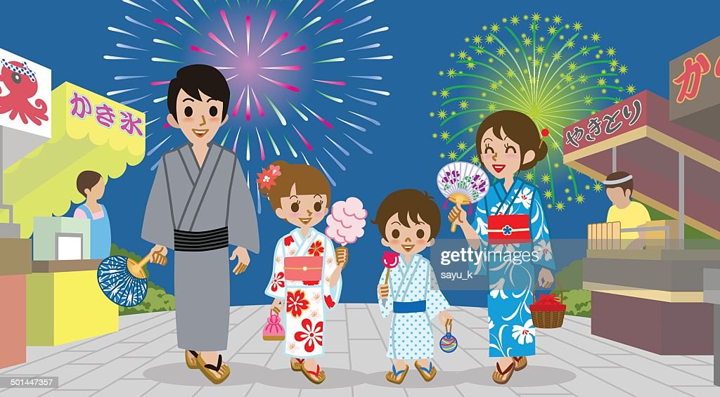 Family enjoyed Japanese Firework Display