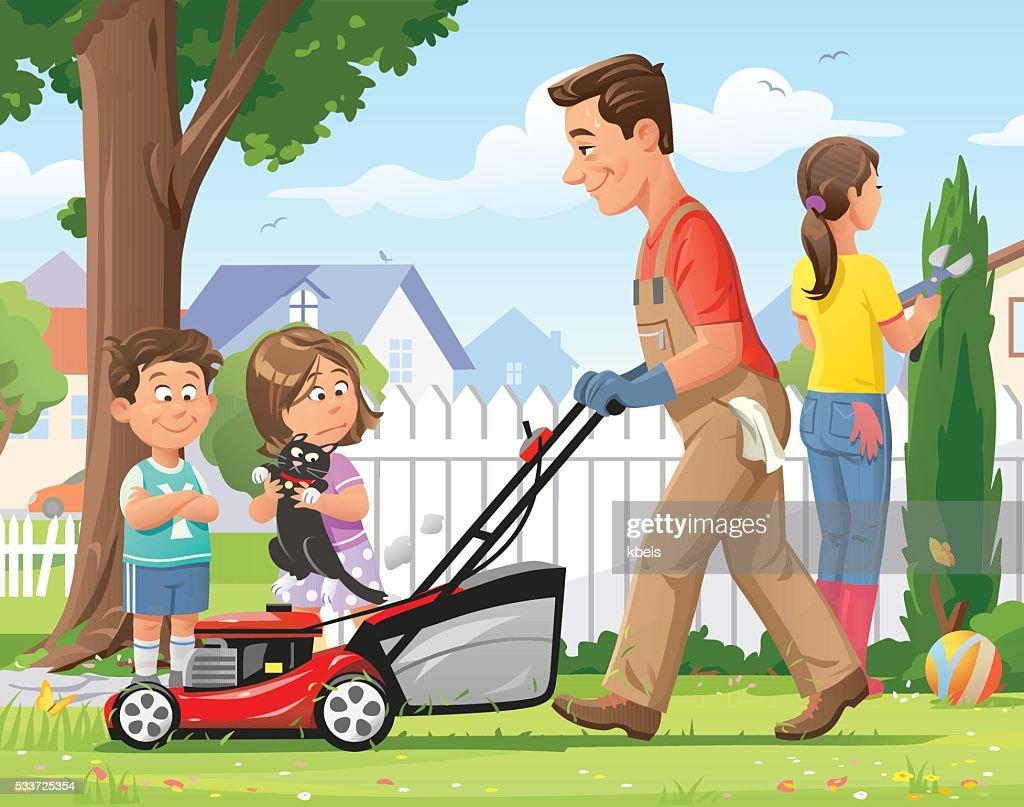 Family Gardening : stock illustration