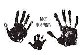 Family handprints vector illustration