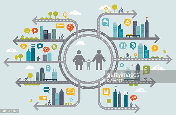 Family Healthy Living Concept