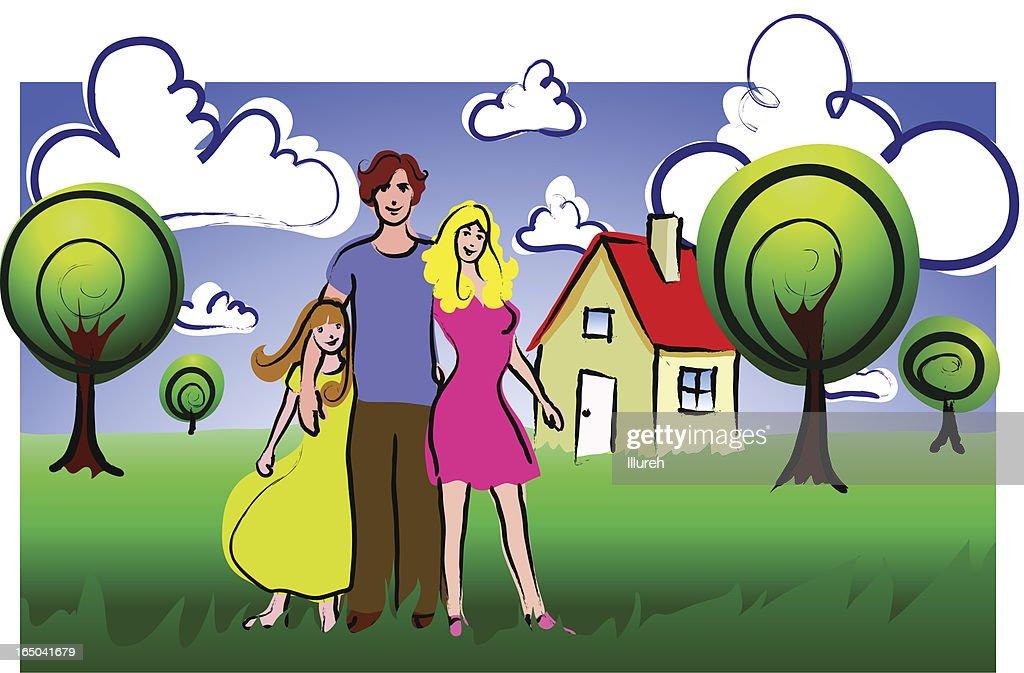 family, house, garden...