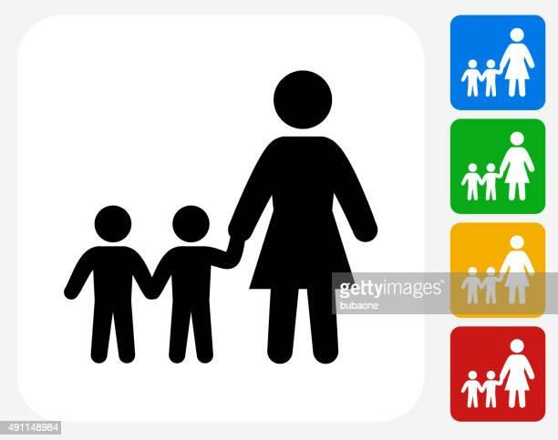 Family Icon Flat Graphic Design