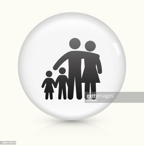 Familie Symbol auf weißer Runder Vektor Knopf