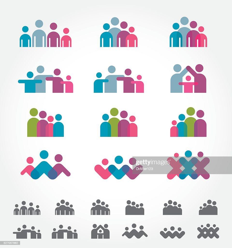 Family Icons : stock illustration