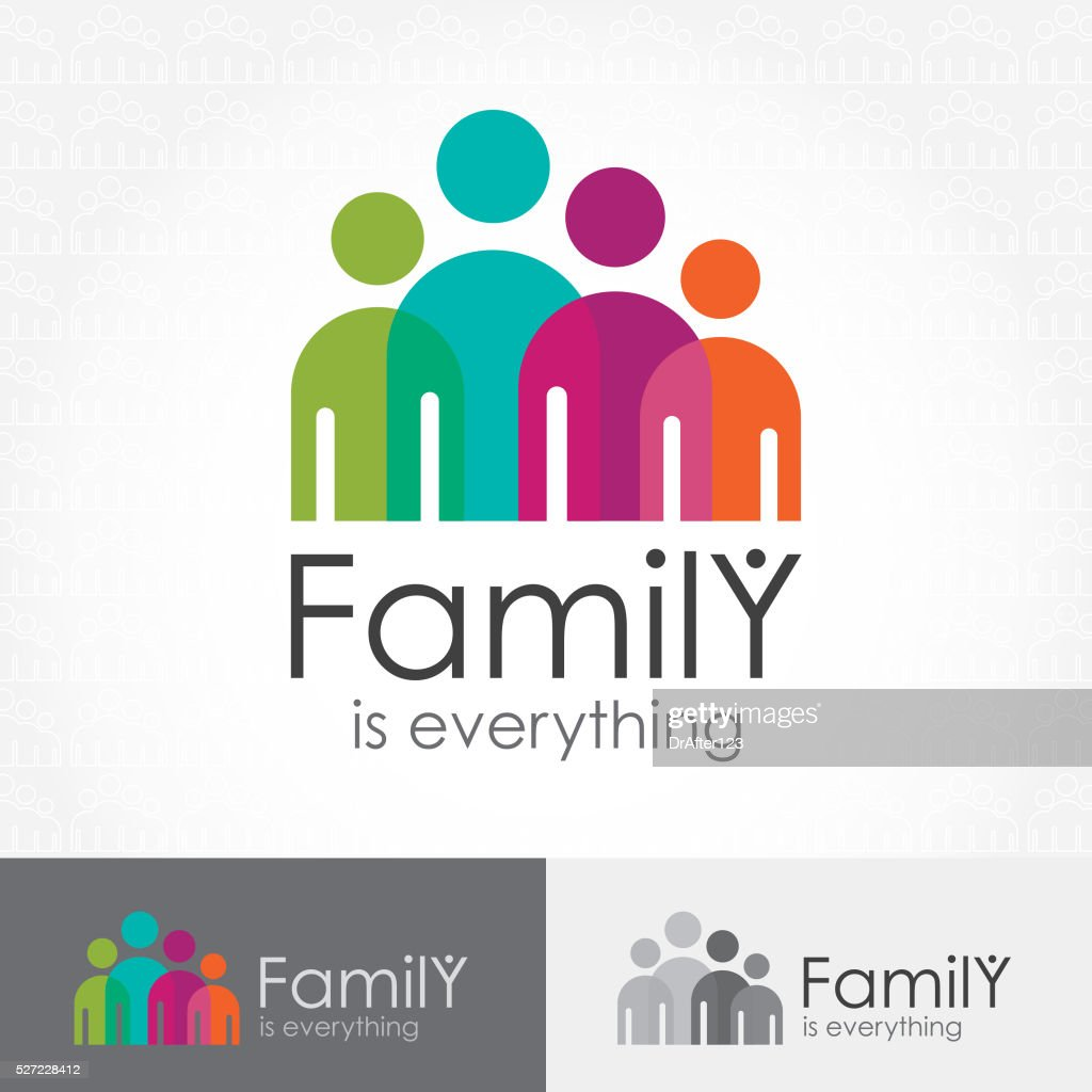 Family Is Everything Icon : stock illustration