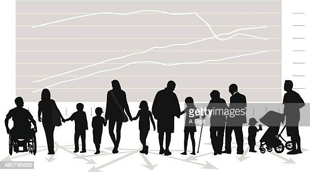 family issues - population explosion stock illustrations