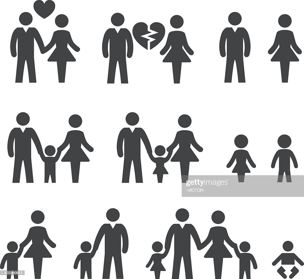 Family life Icons - Acme Series : stock illustration