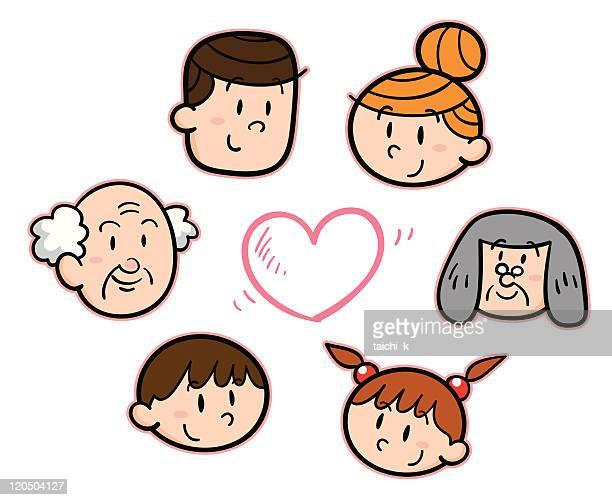 ilustraciones, imágenes clip art, dibujos animados e iconos de stock de familia amor - madre e hija