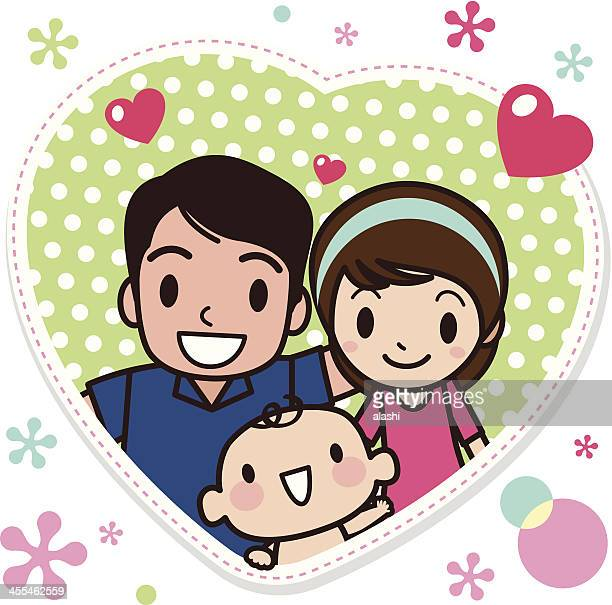 family love - kids hugging mom cartoon stock illustrations