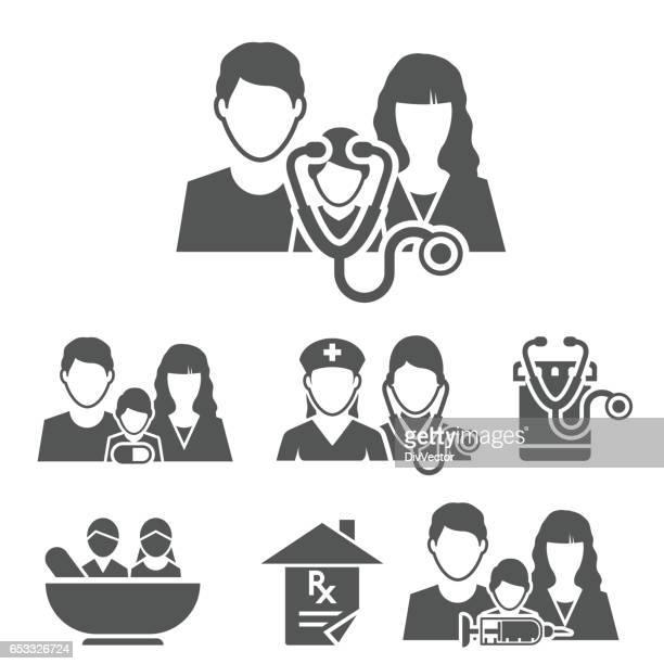 Family medicine icons