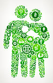 Family  Nature and Environmental Conservation Icon Pattern