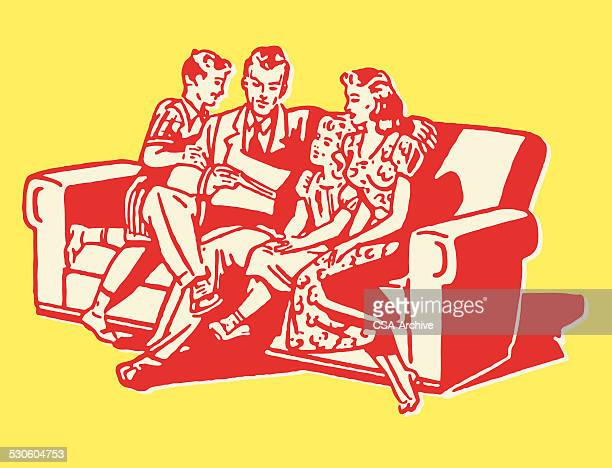 Family of Four on Couch