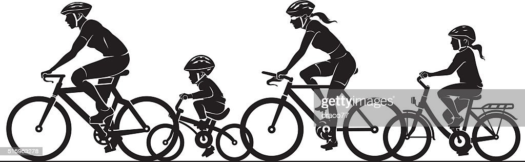 Family Outdoor Bicycle Ride