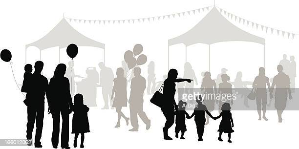 family outings - traditional festival stock illustrations