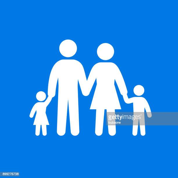 family parents and kids holding hands. - generations stock illustrations, clip art, cartoons, & icons