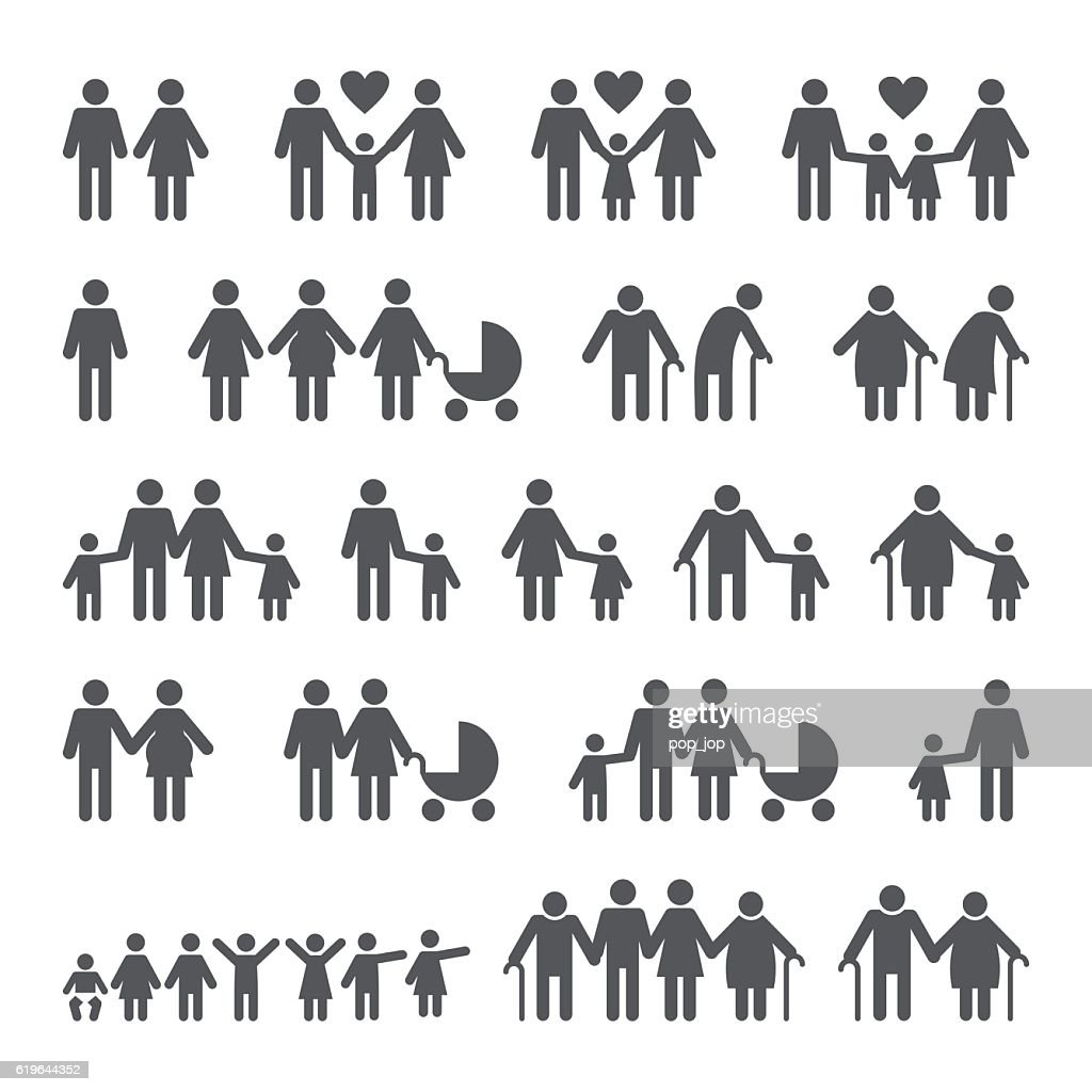 Family People Icons : stock illustration