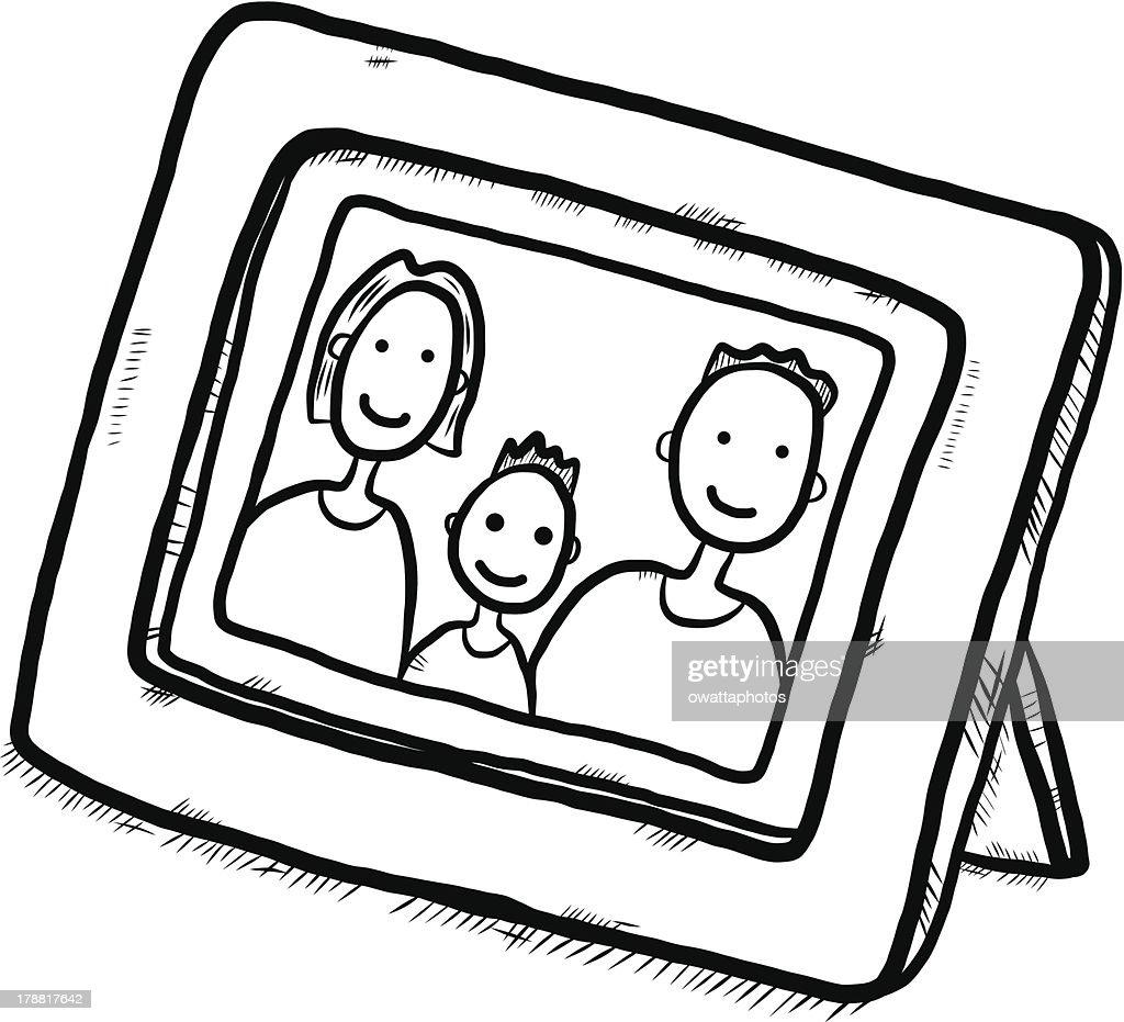 Family photo cartoon