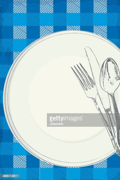 ご家族でのピクニックランチの招待状のデザインテンプレート - ポットラック点のイラスト素材/クリップアート素材/マンガ素材/アイコン素材