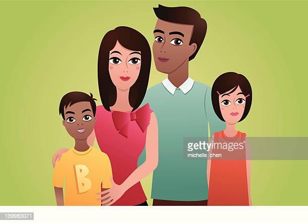 Familie Aufnahme (mit zwei Kinder