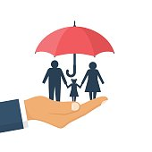 Family protection. Insurance concept