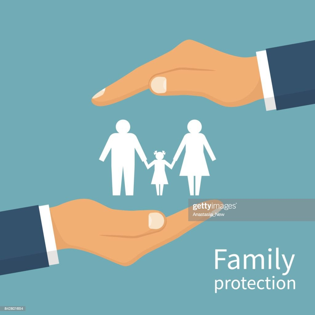 Family protection. Insurance concept.