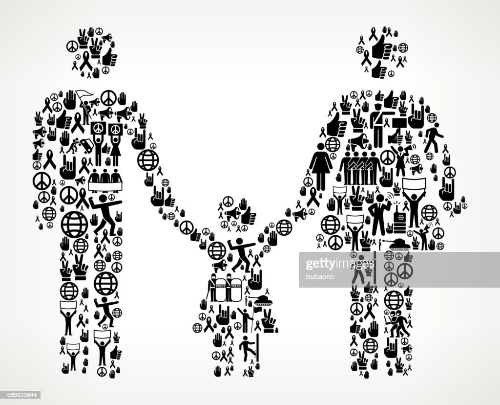 Family  Protest and Civil Rights Vector Icon Background : Stock Illustration