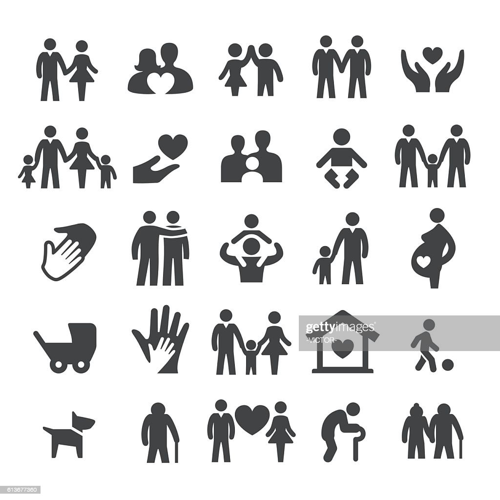 Family Relations Icons - Smart Series : stock illustration