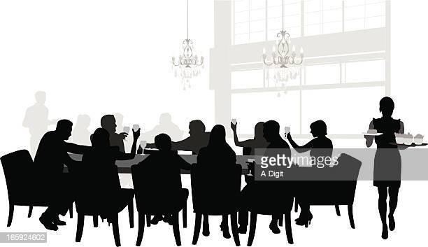 familyrestaurant - トレイ点のイラスト素材/クリップアート素材/マンガ素材/アイコン素材