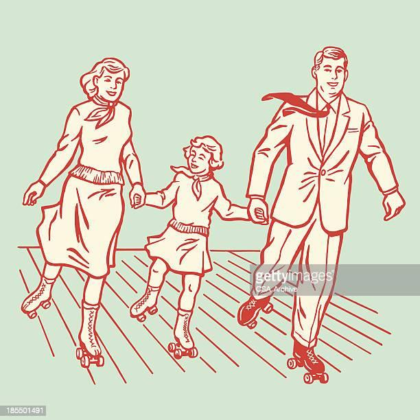 Family Rollerskating