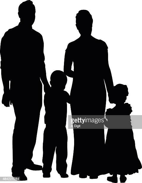Family Silhouette Portrait