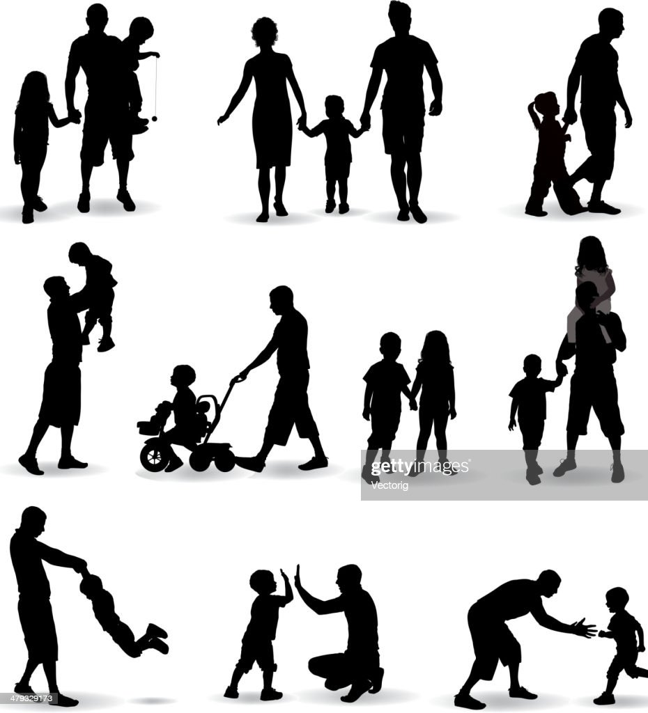 Family Silhouette : stock illustration