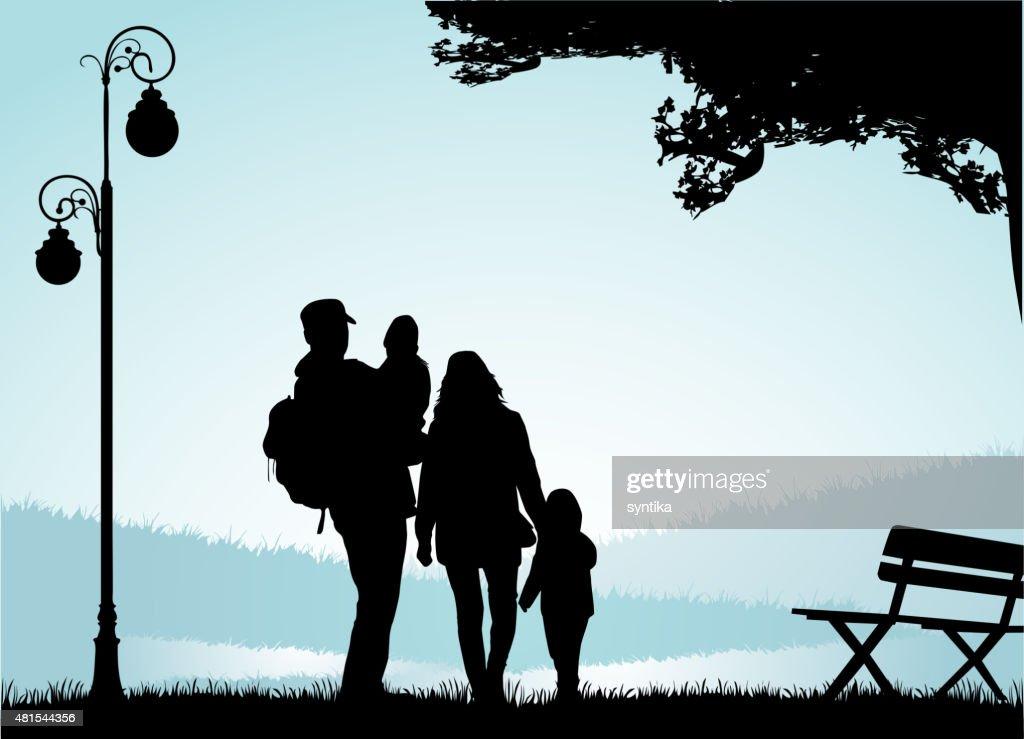 Family silhouettes.