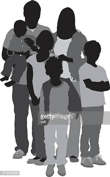 family standing together - clip art family stock illustrations