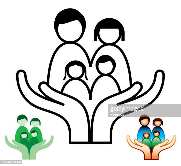 family support and social care icons - mental health professional stock illustrations
