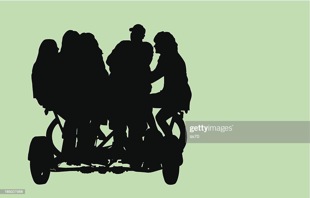 Family / Team Bike ( Vector )