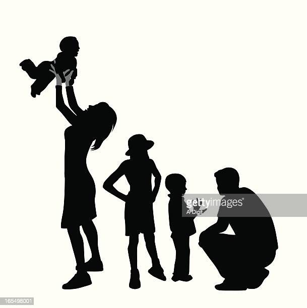 Family Time Vector Silhouette