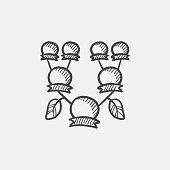 Family tree sketch icon