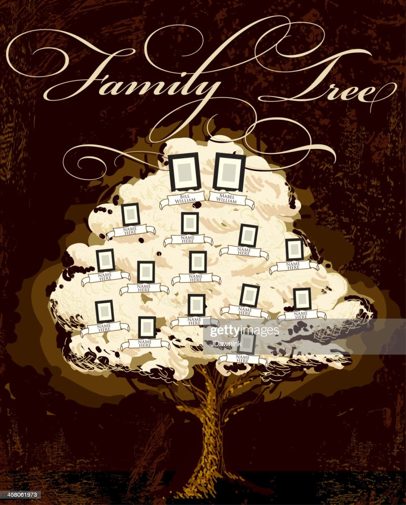 Family Tree Template Design High-Res Vector Graphic
