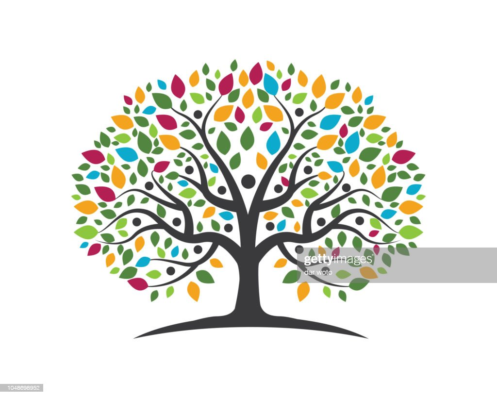 Family Tree vector icon design