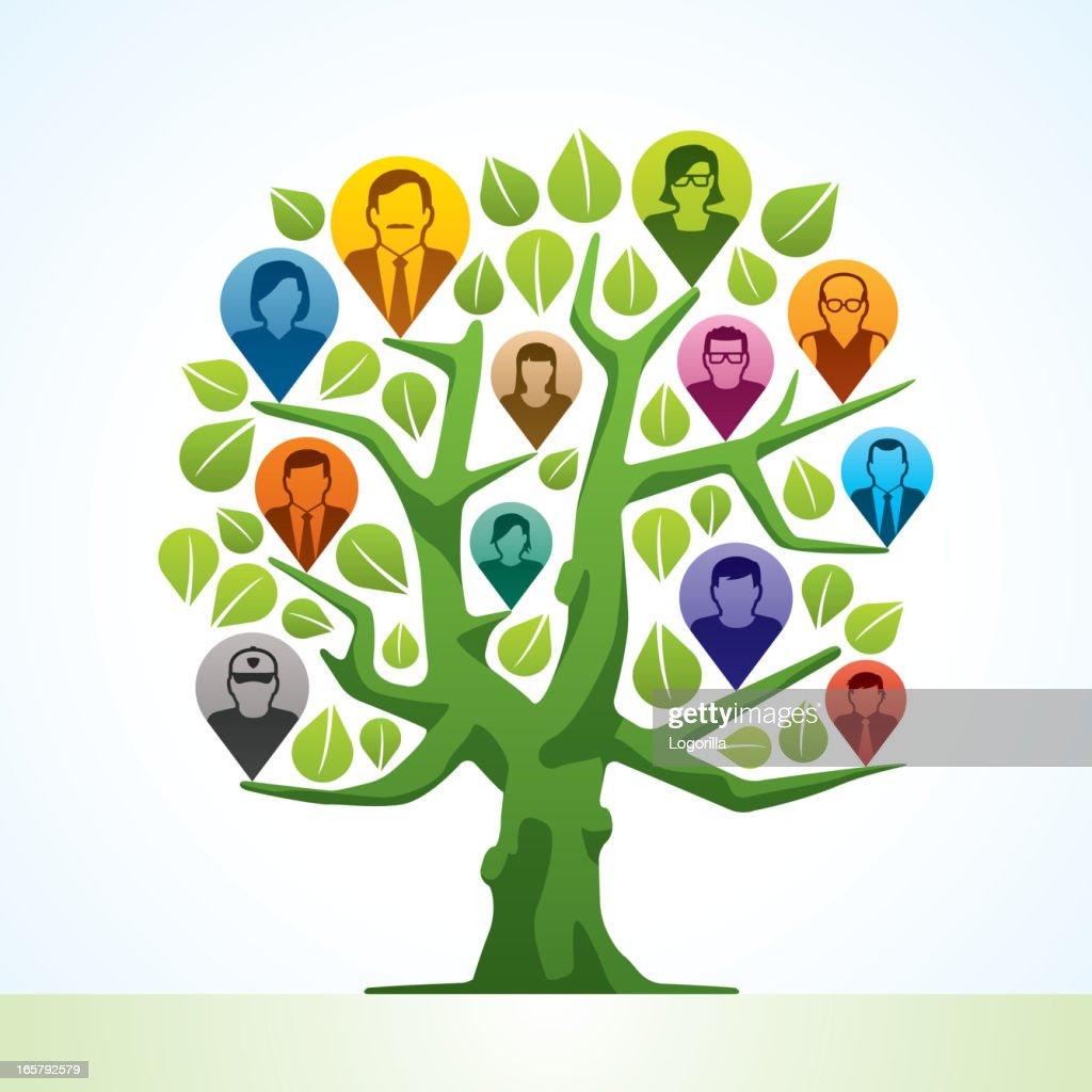Family tree : Stock-Illustration