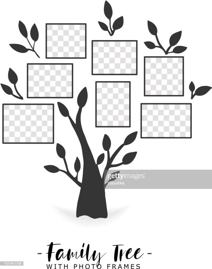 Family tree with photo frames.