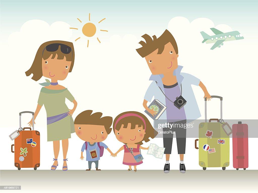 Family Trip : Stock Illustration